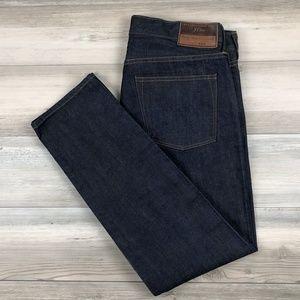 J.Crew 484 Japanese Kaihara Slim Selvedge Jeans 34